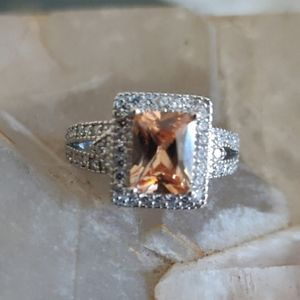 Padparadscha Sapphire Sterling Silver Ring